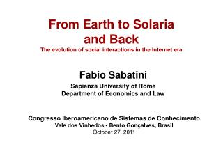 From Earth to Solaria  and Back The evolution of social interactions in the Internet era