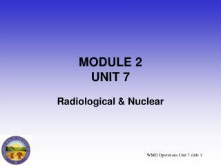 MODULE 2 UNIT 7