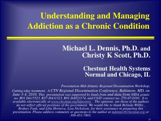 Understanding and Managing Addiction as a Chronic Condition