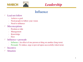 Leadership  Management