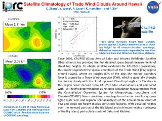 Satellite Climatology of Trade Wind Clouds Around Hawaii