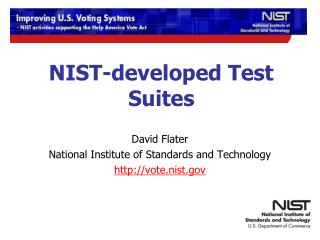 NIST-developed Test Suites