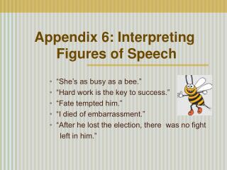 Appendix 6: Interpreting  Figures of Speech