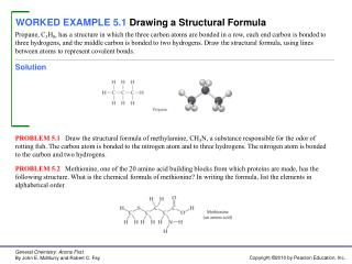 WORKED EXAMPLE 5.1 Drawing a Structural Formula