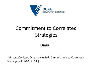 Commitment to Correlated Strategies