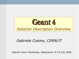 Detector Description Overview