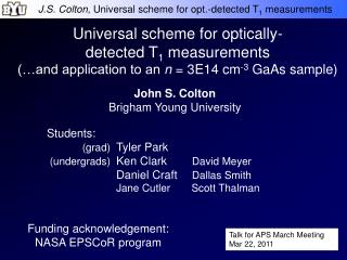 Universal scheme for optically- detected T 1  measurements (…and application to an  n  = 3E14 cm -3  GaAs sample)