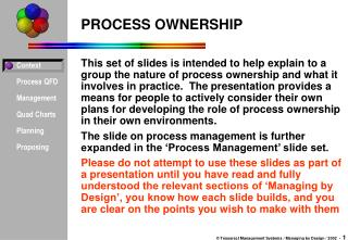 PROCESS OWNERSHIP