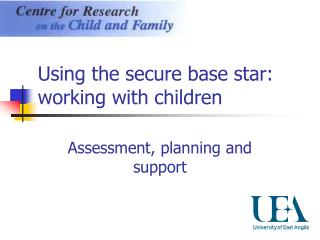 Using the secure base star: working with children