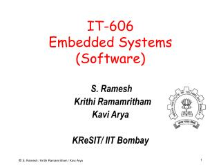 IT-606 Embedded Systems (Software)