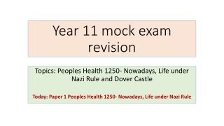 Year 11 mock exam revision