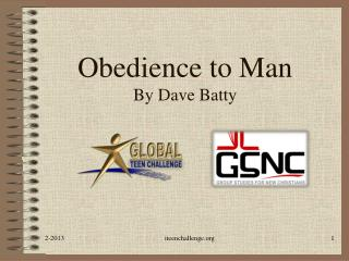 Obedience to Man By Dave Batty