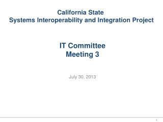 IT Committee Meeting 3
