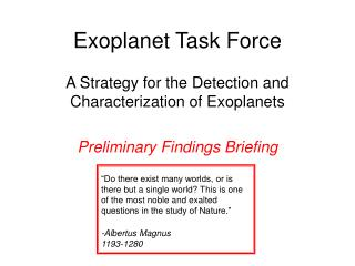Exoplanet Task Force