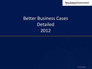 Better Business Cases  Detailed  2012