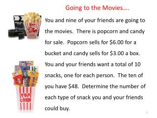 Going to the Movies….