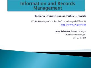 Information and Records Management