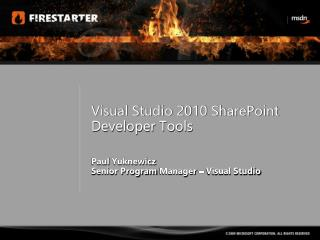 Visual Studio 2010 SharePoint  Developer  Tools
