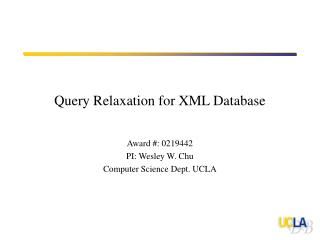 Query Relaxation for XML Database