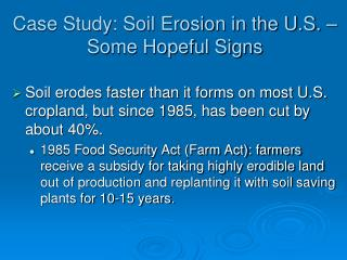 Case Study: Soil Erosion in the U.S. – Some Hopeful Signs