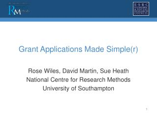 Grant Applications Made Simple(r)