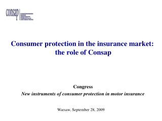 Consumer protection in the insurance market: the role of Consap
