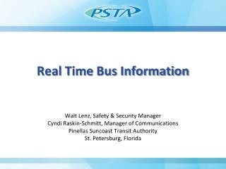 Real Time Bus Information