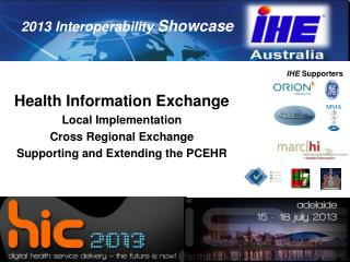 Health Information Exchange Local Implementation Cross Regional Exchange Supporting and Extending the PCEHR