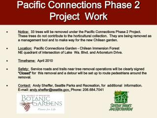 Pacific Connections Phase 2 Project  Work