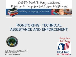 MONITORING, TECHNICAL ASSISTANCE AND ENFORCEMENT