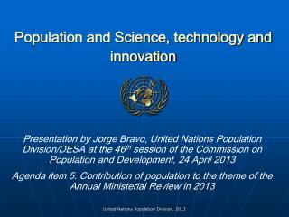 Population and Science, technology and innovation