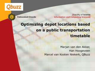 Optimizing depot locations based on a public transportation timetable