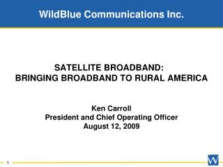 WildBlue Communications Inc.