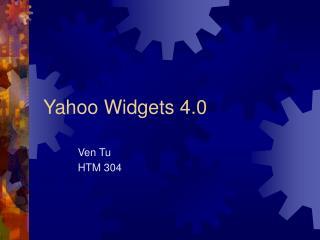 Yahoo Widgets 4.0