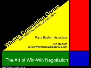 The Art of Win-Win Negotiation