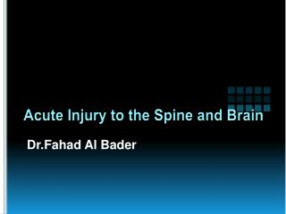 Acute Injury to the Spine and Brain
