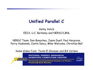 Unified Parallel C
