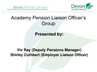 Academy Pension Liaison Officer's Group
