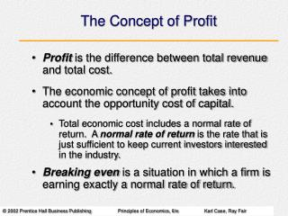 The Concept of Profit