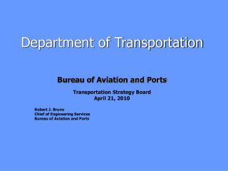 Department of Transportation