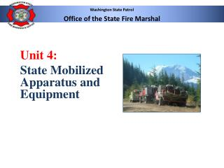 Washington State Patrol  Office of the State Fire Marshal