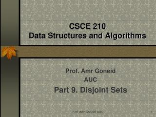 CSCE 210 Data Structures and Algorithms