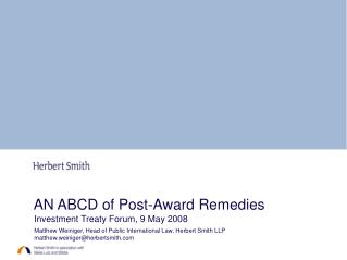 AN ABCD of Post-Award Remedies