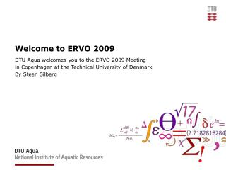 Welcome to ERVO 2009