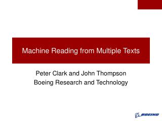 Machine Reading from Multiple Texts