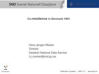 Co- residence  in Denmark 1801