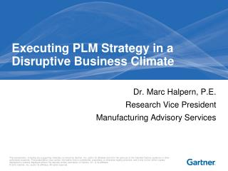 Executing PLM Strategy in a Disruptive Business Climate