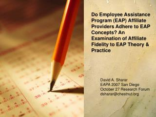 Do Employee Assistance Program EAP Affiliate Providers Adhere to ...