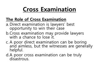 Cross Examination