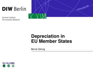 Depreciation in  EU Member States
